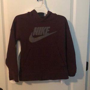 Maroon and grey Nike sweatshirt like new no stains